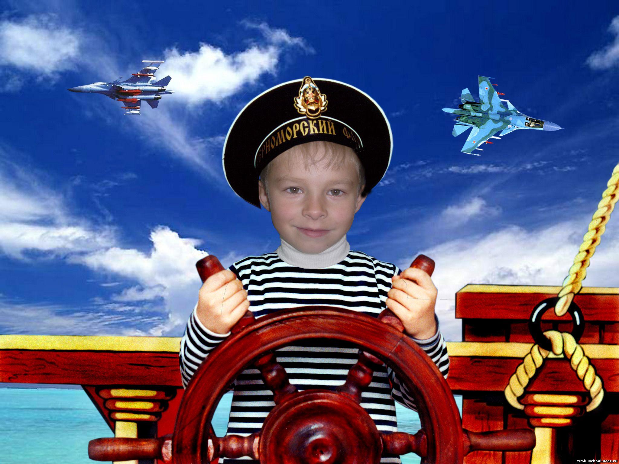 Ребенок на корабле фото